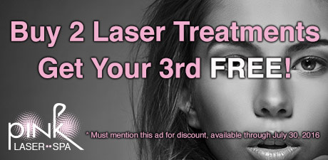 Buy 2 Laser Treatments, get your 3rd FREE!
